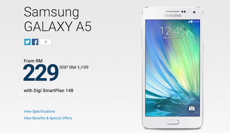 digi now offering the samsung galaxy a5 from rm229