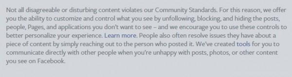 Facebook Disclaimer
