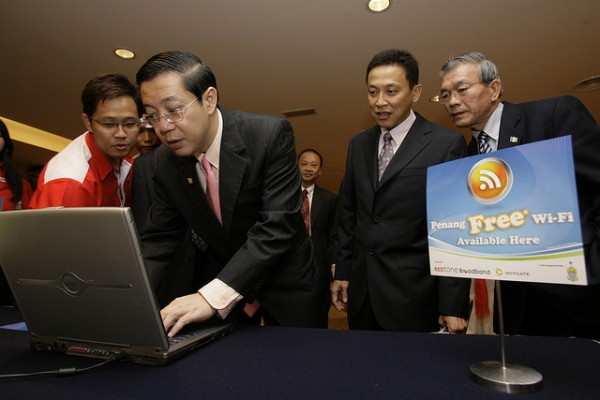 Penang Chief Minister at the 2009 launch of Penang Free WiFi