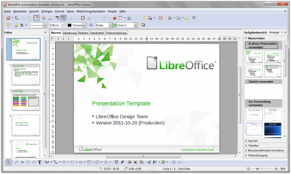 LibreOffice-3.5-Impress-WithContent-German-Windows-7