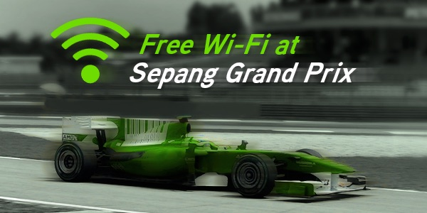 Maxis Free Wifi at Sepang F1 Grand Prix