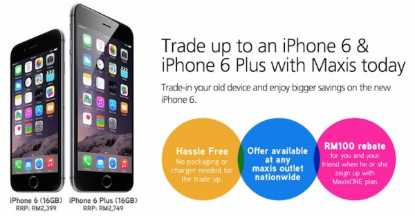 Maxis Trade In Promotion iPhone 6 iPhone 6 Plus Banner