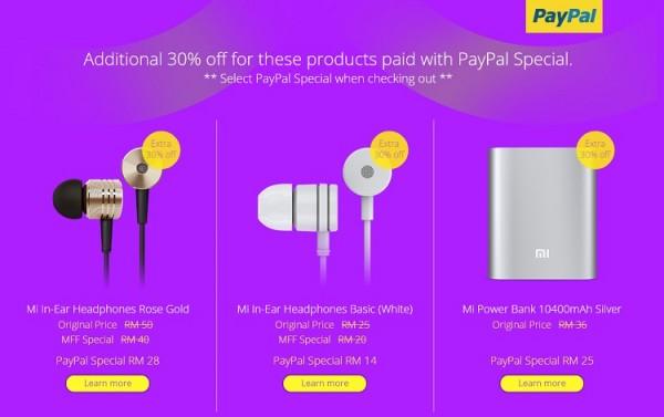 Mi Fan Festival 2015 PayPal Special