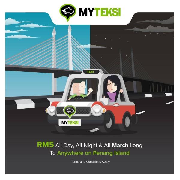 MyTeksi RM5 Penang Island Flat Rate Promotion