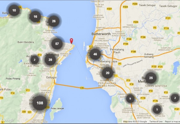 Penang Free WiFi Map