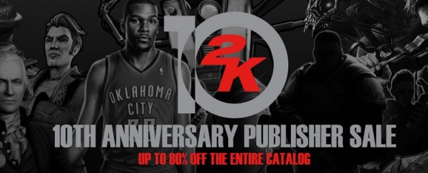 Steam 2K 10 anniversay sale