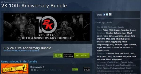 Steam 2k 10th anniversary bundle