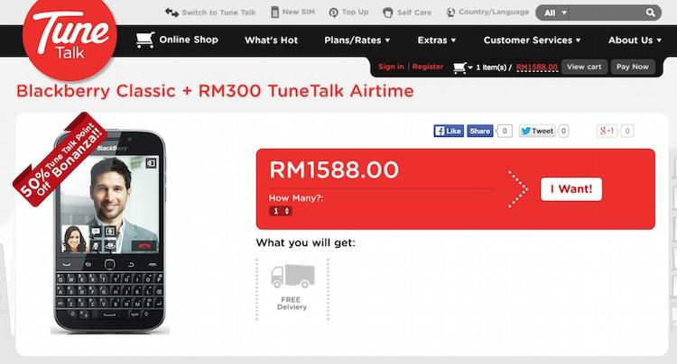 Tune Talk BB Classic Online Store