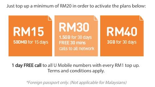 U Mobile Traveller SIM Plans