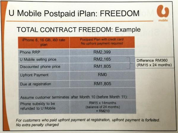 U Mobile iPhone Contract Freedom 1