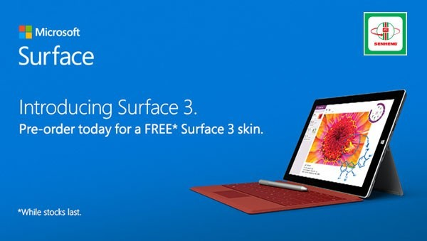 Surface 3 Pre-Order at Senheng