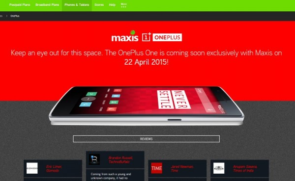 OnePlus One Maxis Exclusive