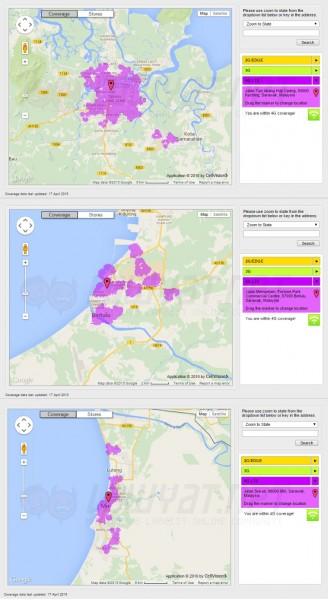 DiGi LTE Coverage in Kuching, Bintulu, and Miri