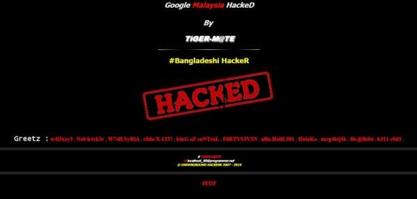 Google Malaysia Hacked