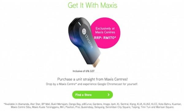 Maxis Chromecast RM170