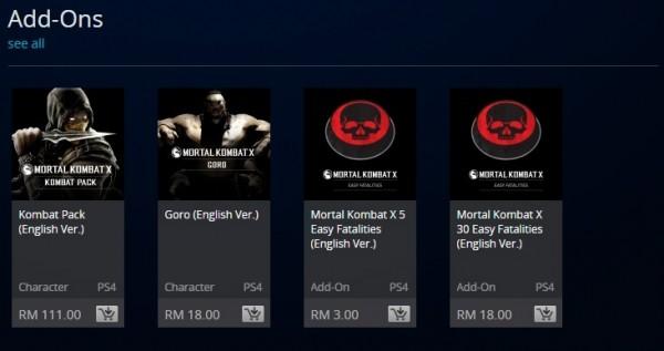 Mortal Kombat X Easy Fatality DLC