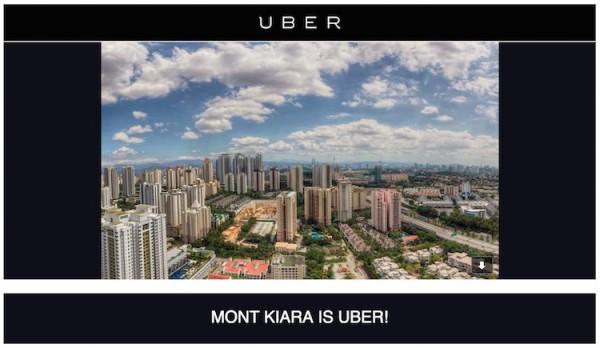 Uber Free Rides in Mont Kiara