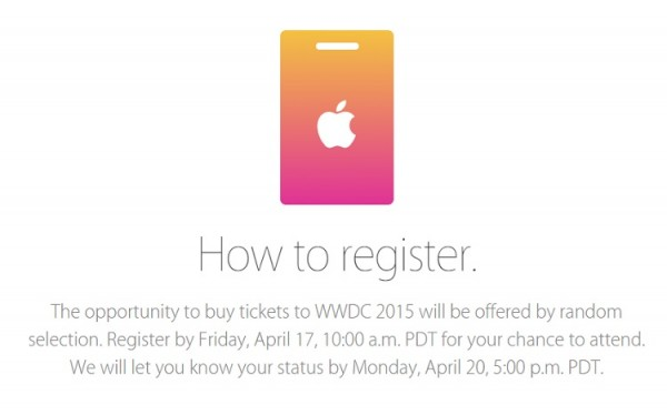 WWDC15 Registration