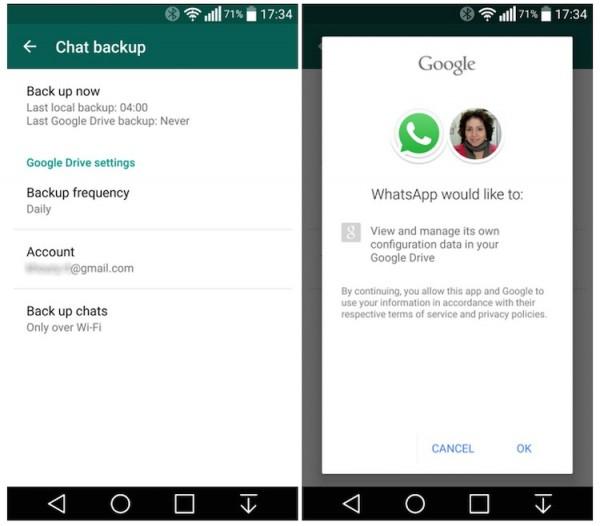 WhatsApp Google Drive Backup 1