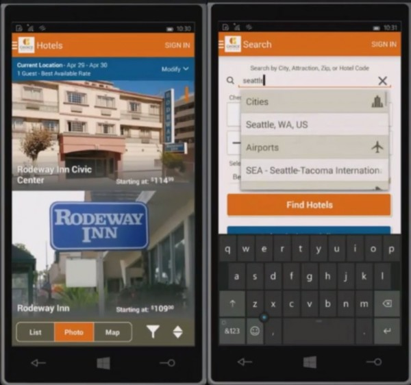 Windows 10 Best Hotels Android App