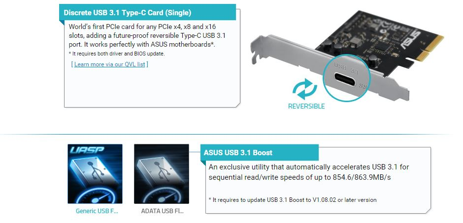 ASUS Releases New Range Of USB 3 1 Solutions, Includes Motherboards