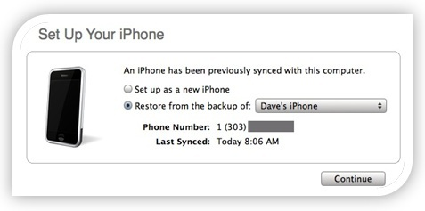 iPhone Restore By iTunes