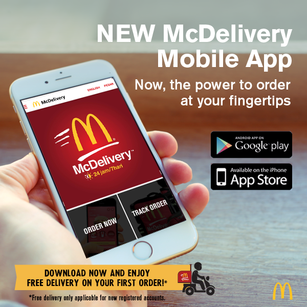 Call for McDelivery™ anytime. For Food Menu: Please visit Here How to order? 1. Simple. When you're hungry just choose anything from the menu. 2. Pick up the phone and dial for McDelivery™.