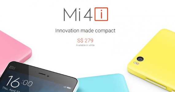 Xiaomi Mi 4i Goes Official In Singapore Next Week For SGD 279