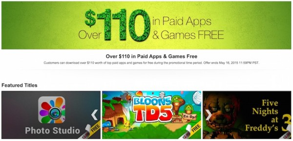 Amazon Appstore Free Apps May 2015