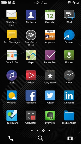 BlackBerry Leap Apps