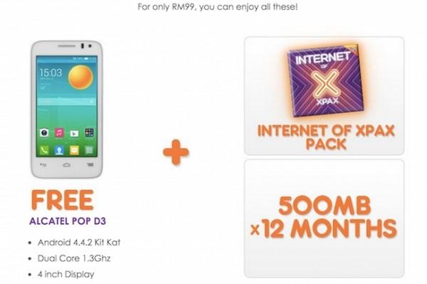 Celcom Xpax Free Phone
