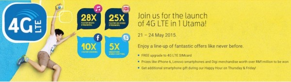 Digi 1 Utama Launch Promotion