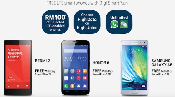 Digi 1 Utama Launch Promotion Free Phones
