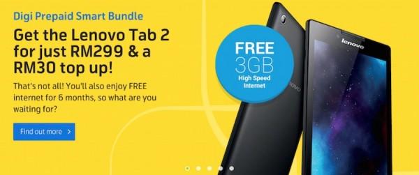Digi Prepaid Lenovo Tab 2 Bundle