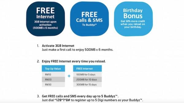 Digi Smartphone Prepaid Benefits