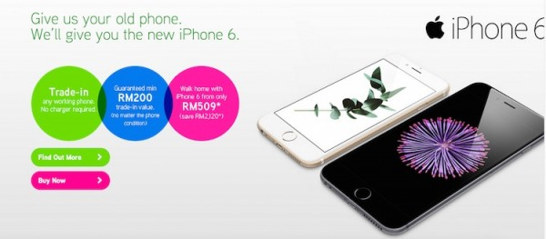 Maxis iPhone 6 Trade In Program May 2015