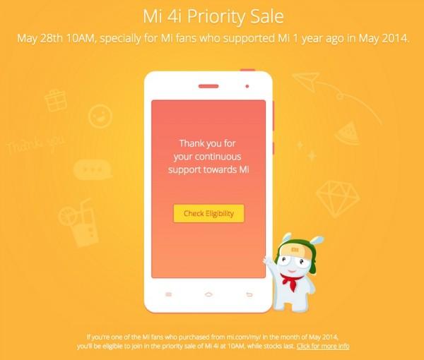 Mi 4i Priority Sale Malaysia