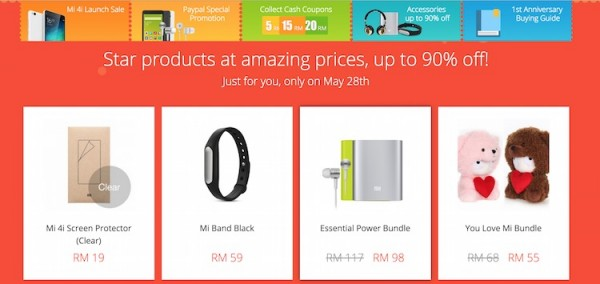 Mi Malaysia First Anniversary Sale Accessories
