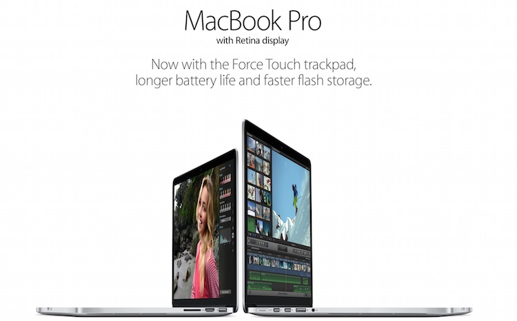 New 15 Inch MacBook Pro with Force Touch Trackpad