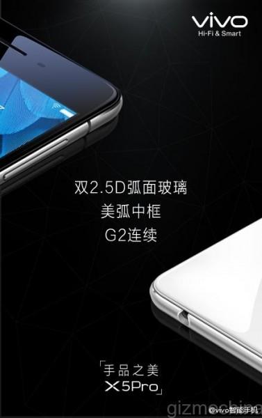 Vivo X5 pro 2.5D Glass