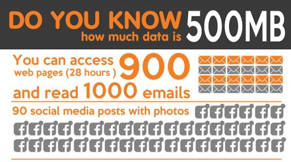 Wiyo 500MB Usage Infographic