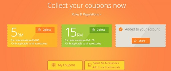 Xiaomi Malaysia First Anniversary Sale Coupons