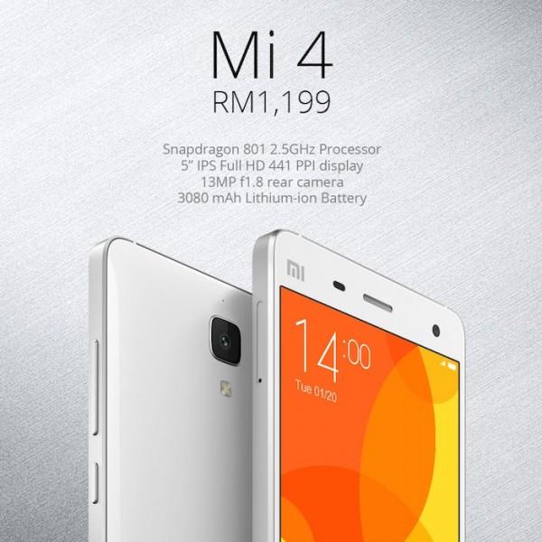 Xiaomi Malaysia Mi 4 RM1199