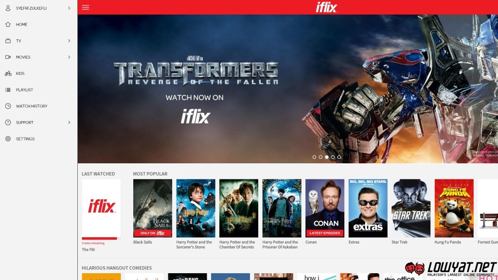 Hands on with iflix first look at the malaysian made video iflix hands on 01 stopboris Gallery
