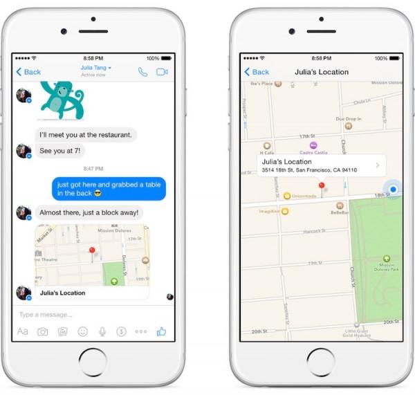 Facebook Messenger Location Sharing 2