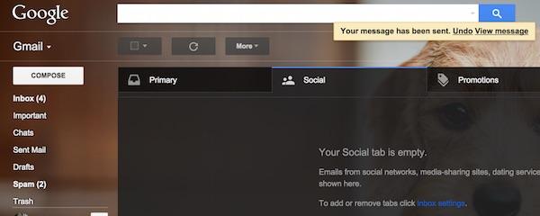 Gmail Undo Send