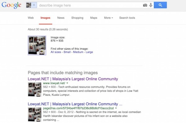 Google Reverse Image Search Result Harith Iskander