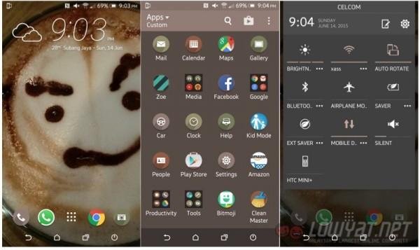 HTC One M9 Plus HTC Sense 7 Home Screen App Drawer Settings