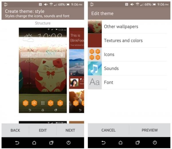 HTC One M9 Plus Sense 7 Create Own Theme