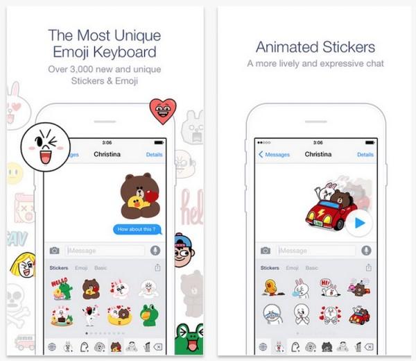Line Emoji Keyboard for iOS